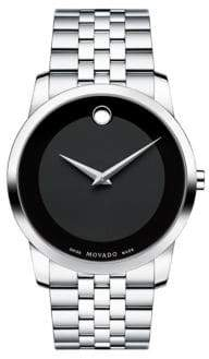 Movado Men's Museum Classic Stainless Steel Watch - Silver