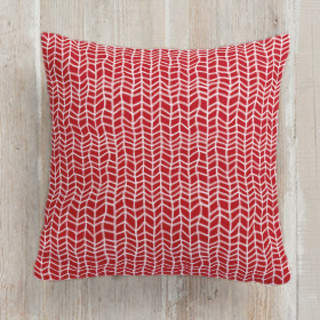 Hand Drawn Herringbone Square Pillow