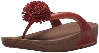 FitFlop Women's Flowerball Leather Toe-Post Flip Flop