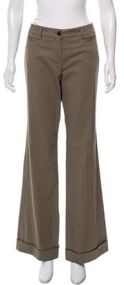 Rene Lezard Mid-Rise Wide-Leg Pants w/ Tags