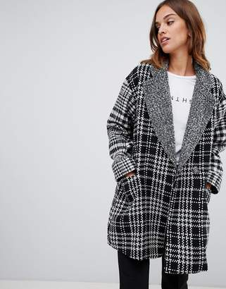 French Connection Edge to Edge Checked Coat