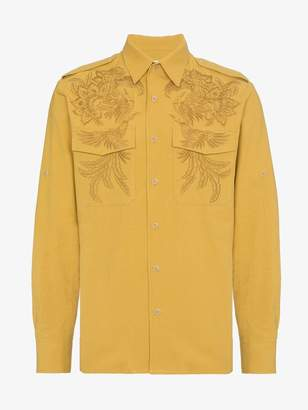 Dries Van Noten embroidered cotton shirt