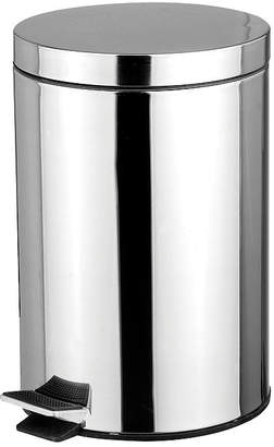 HOME BASICS Home Basics 5-Liter Polished Stainless Steel Round Waste Bin