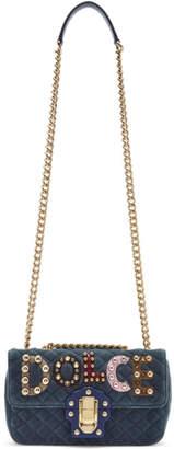 Dolce & Gabbana Blue Velvet Lucia Bag