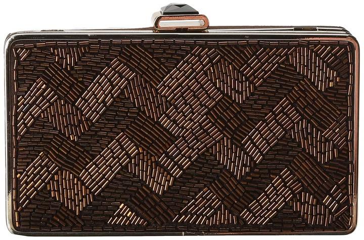 Jessica McClintock Woven EW Frame (Black) - Bags and Luggage