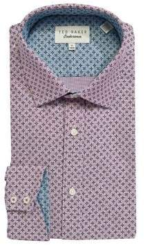 6b6229df28f7 ... Ted Baker Endurance Cotton Diamond-Print Dress Shirt