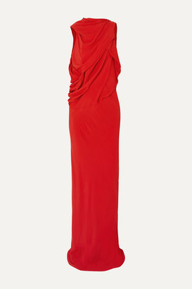 Rick Owens Draped Crepe Gown - Red
