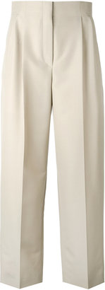 high waisted trousers with front pleat