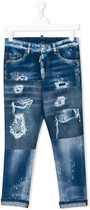 DSQUARED2 Teen distressed denim jeans