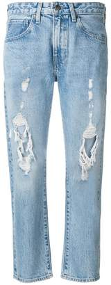 Levi's Made & Crafted destroyed cropped jeans