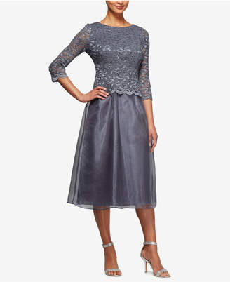 Alex Evenings Petite Embellished-Lace Dress