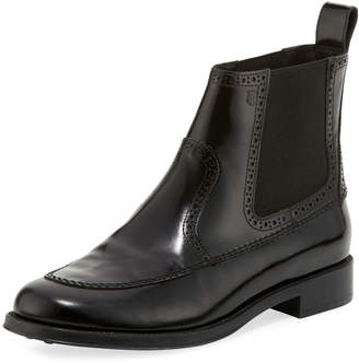 Tod's Brogue Leather Chelsea Boots