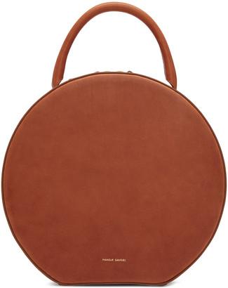 Mansur Gavriel Brown Leather Circle Bag $795 thestylecure.com