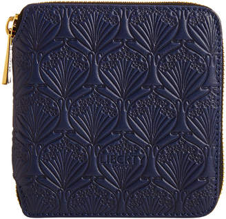 Liberty London - Navy Embossed Wallet - Small