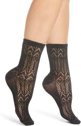 Sarah Borghi Giulia Metallic Openwork Socks