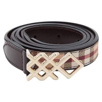 Burberry Beige Leather Belts