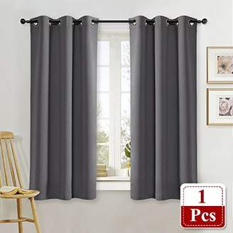 NICETOWN Blackout Curtain Blind for Bedroom Thermal Insulated Grommet Blackout Room Darkening Drape/Drapery (Single Panel