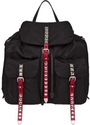 Prada studded multi-pockets backpack