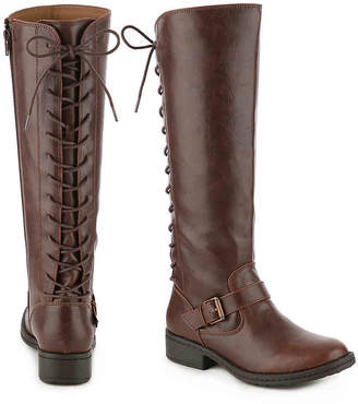 75ad64b393dfa Brown Lace Up Riding Boots - ShopStyle