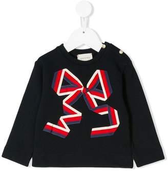 Gucci Kids Web bow sweater