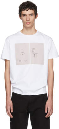 Raf Simons White Drugs Cover Slim Fit T-Shirt