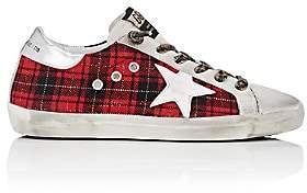 Golden Goose Women's Superstar Flannel & Suede Sneakers - Red