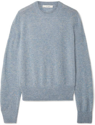 The Row Minco Cashmere And Silk-blend Sweater - Light blue