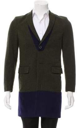 Kolor Wool-Blend Longline Blazer