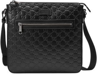 1201121f8b3d Men Black Leather Messenger Bag - ShopStyle Australia
