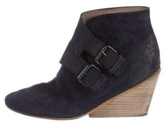 Marsèll Suede Wedge Ankle Boots