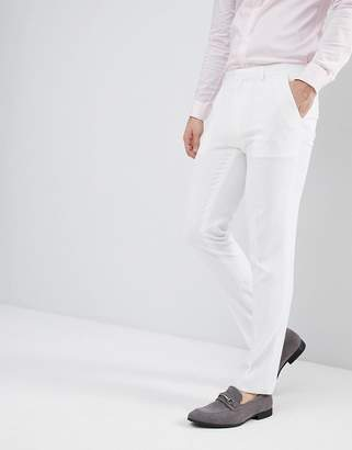 Hatch ASOS DESIGN Wedding skinny suit PANTS in off white cross
