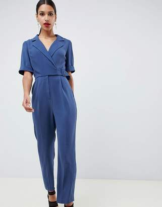 Asos DESIGN wrap jumpsuit with self buckle