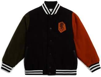 Stella McCartney Embroidered Colour-Block Bomber Jacket