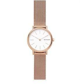 Skagen Signatur Slim Rose Goldsteel-Mesh Watch