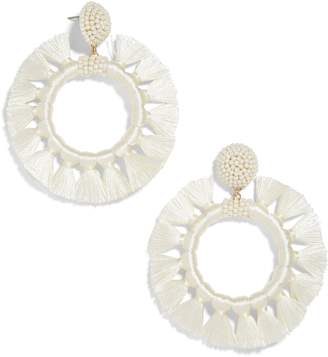 BaubleBar Adrita Beaded Tassel Hoop Earrings