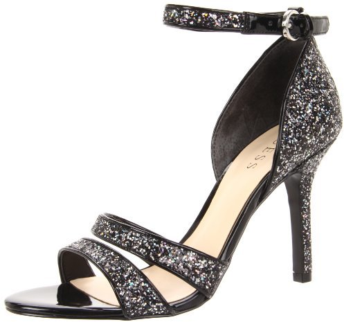 GUESS Women's Laren Sandal,Black Multi,6 M US