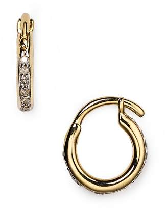 Adina Pavé Huggie Hoop Earrings