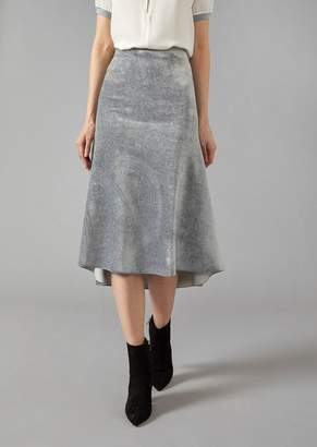 Giorgio Armani Mid-Length Flared Skirt In Velvet