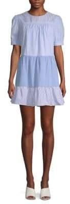 ENGLISH FACTORY Colorblock Mini Dress