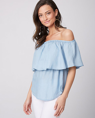 Le Château Lyocell Off-the-Shoulder Blouse
