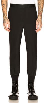 Neil Barrett Slim Low Rise Tuxedo Stripe Trouser