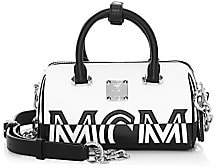 MCM Women's Boston Logo Leather Satchel