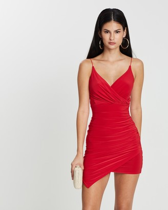 Missguided Strappy Slinky Wrap Bodycon Dress