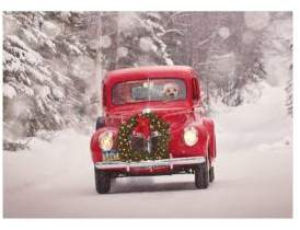 Viabella Old Truck and Wreath Boxed Christmas Cards
