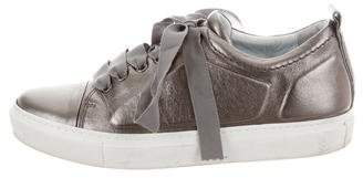 Lanvin Metallic Leather Sneakers