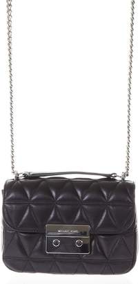 MICHAEL Michael Kors Quilted Black Leather Shoulder Strap