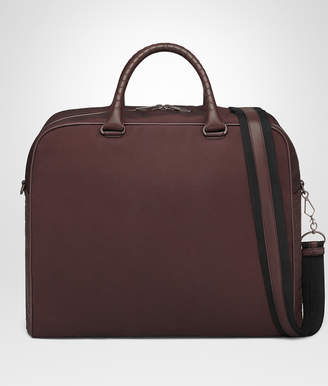 Bottega Veneta DARK BAROLO CANVAS DUFFEL