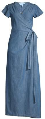 Draper James Chambray Wrap Maxi Dress