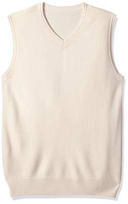The Knitwear Lab Men's 3D Knitted V-Neck Vest
