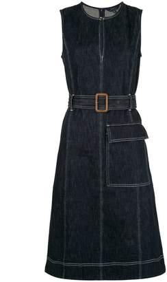 Polo Ralph Lauren belted denim flared dress